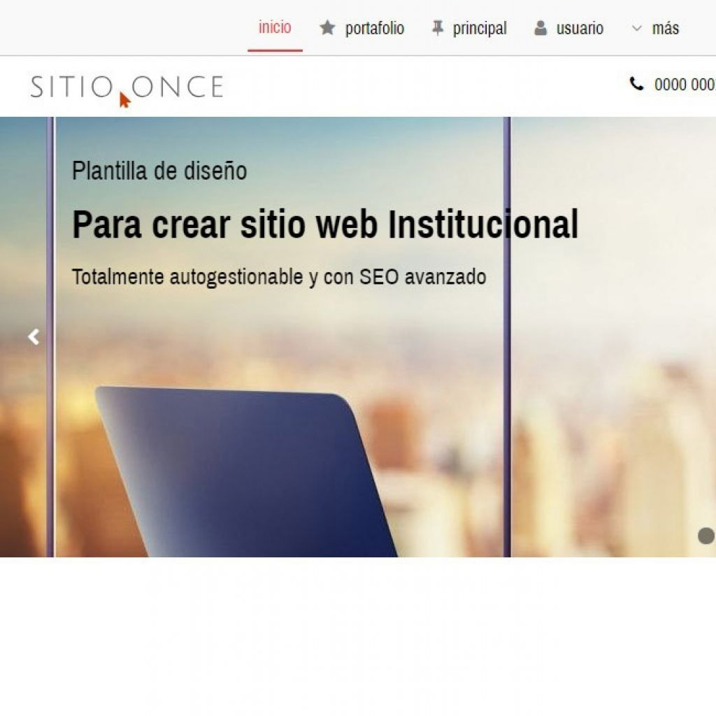 Demo 11 sitio web institucional.