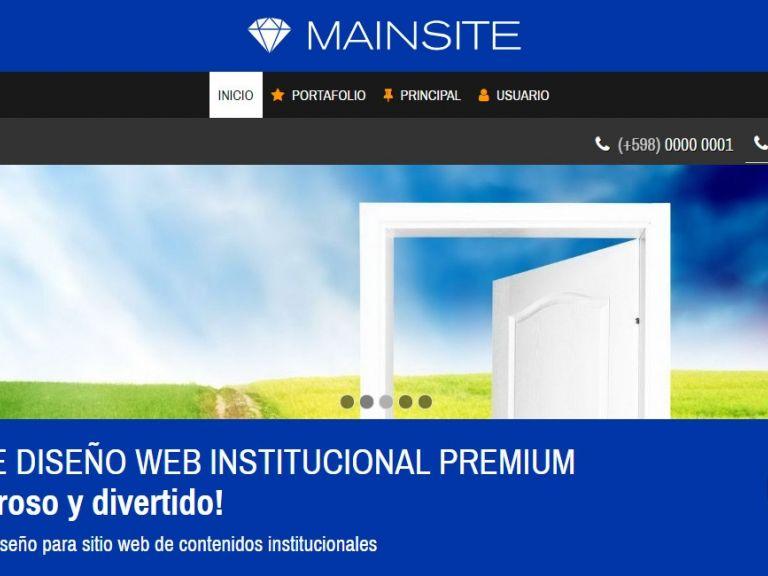 Demo de diseño para sitio web institucional corporativo. - INSTITUCIONAL 13 . Diseño sitio web institucional